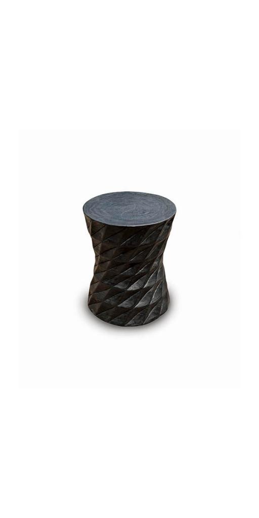 STOOL BLACK WOOD 1200